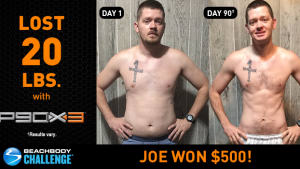 P90X3 Results: Joe Lost 20 Pounds in 90 Days!