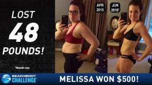 Beachbody Results: Melissa Lost 48 Lbs and Won $500 in the Beachbody Challenge!