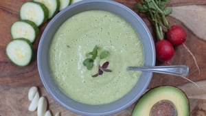 Green Gazpacho With Cucumber and Radish