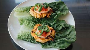 Lettuce-Wrapped Banh Mi Turkey Burger