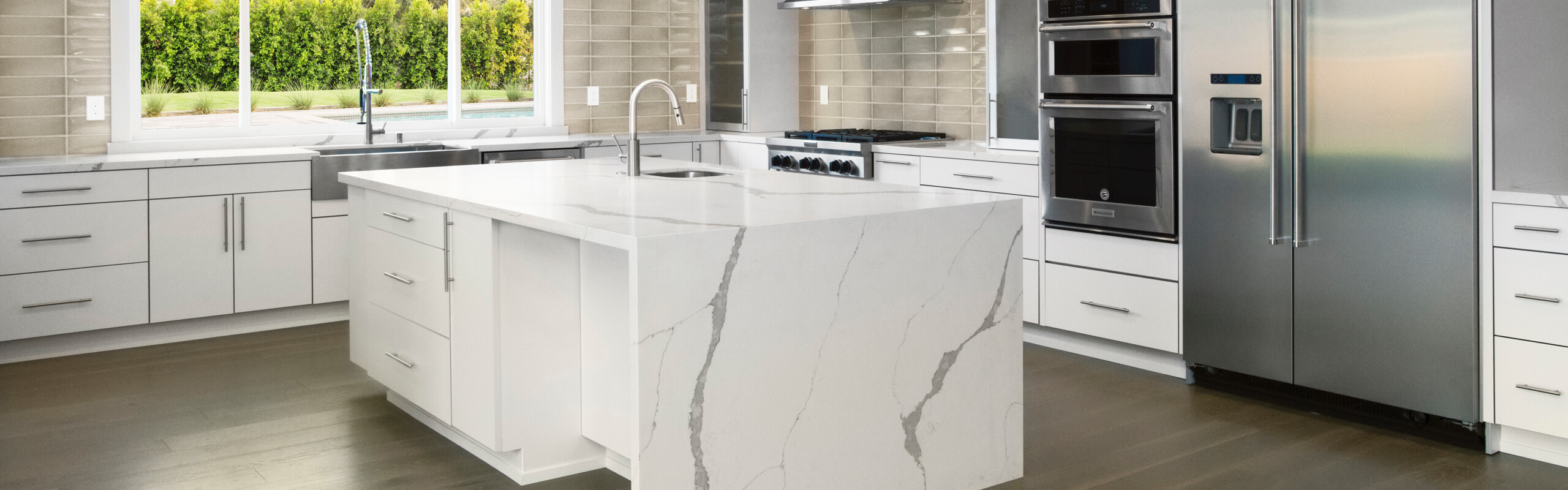 Sequel Quartz Countertop In Kitchen