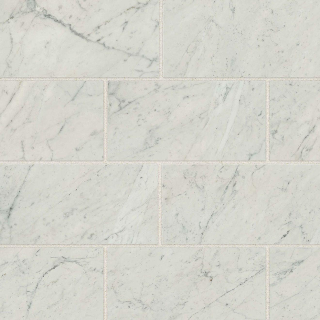 Classic 20 12 X 24 Floor Wall Tile In Bianco Carrara
