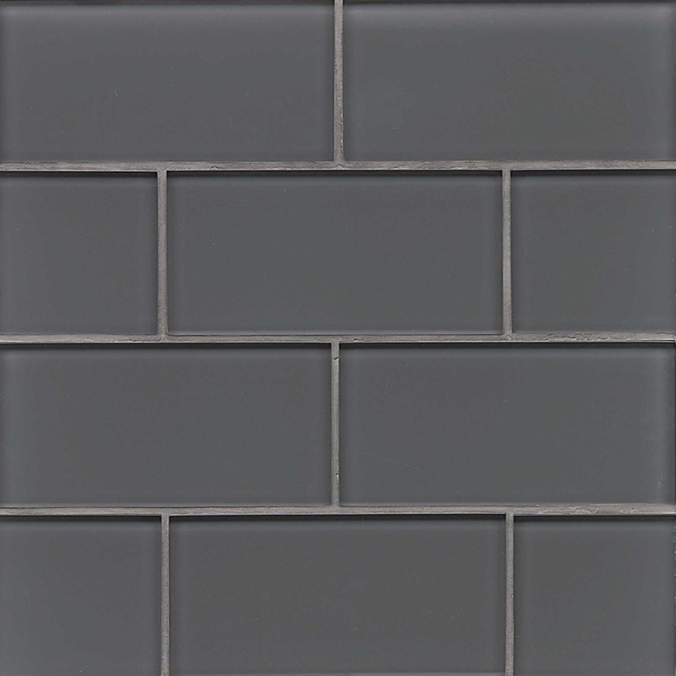 Bedrosians 3x6 Field Tile Pelican Gloss Hamptons Glass