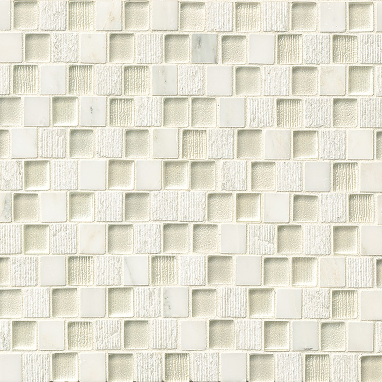 Bedrosians 3/4x1Tessuto Offset Brick Pattern Blend White