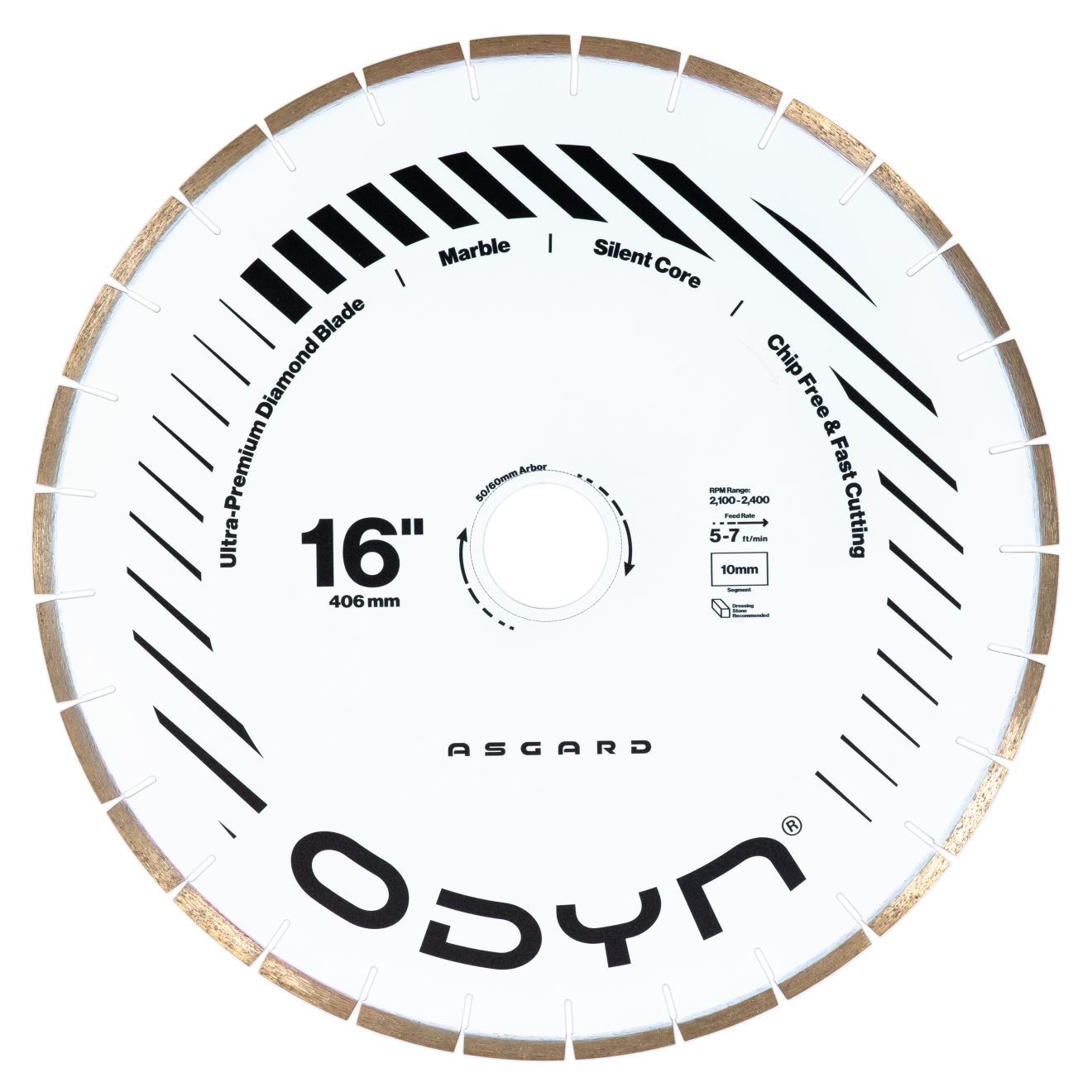 "Odyn 16"" Asgard Ultra-Premium Marble Blade"
