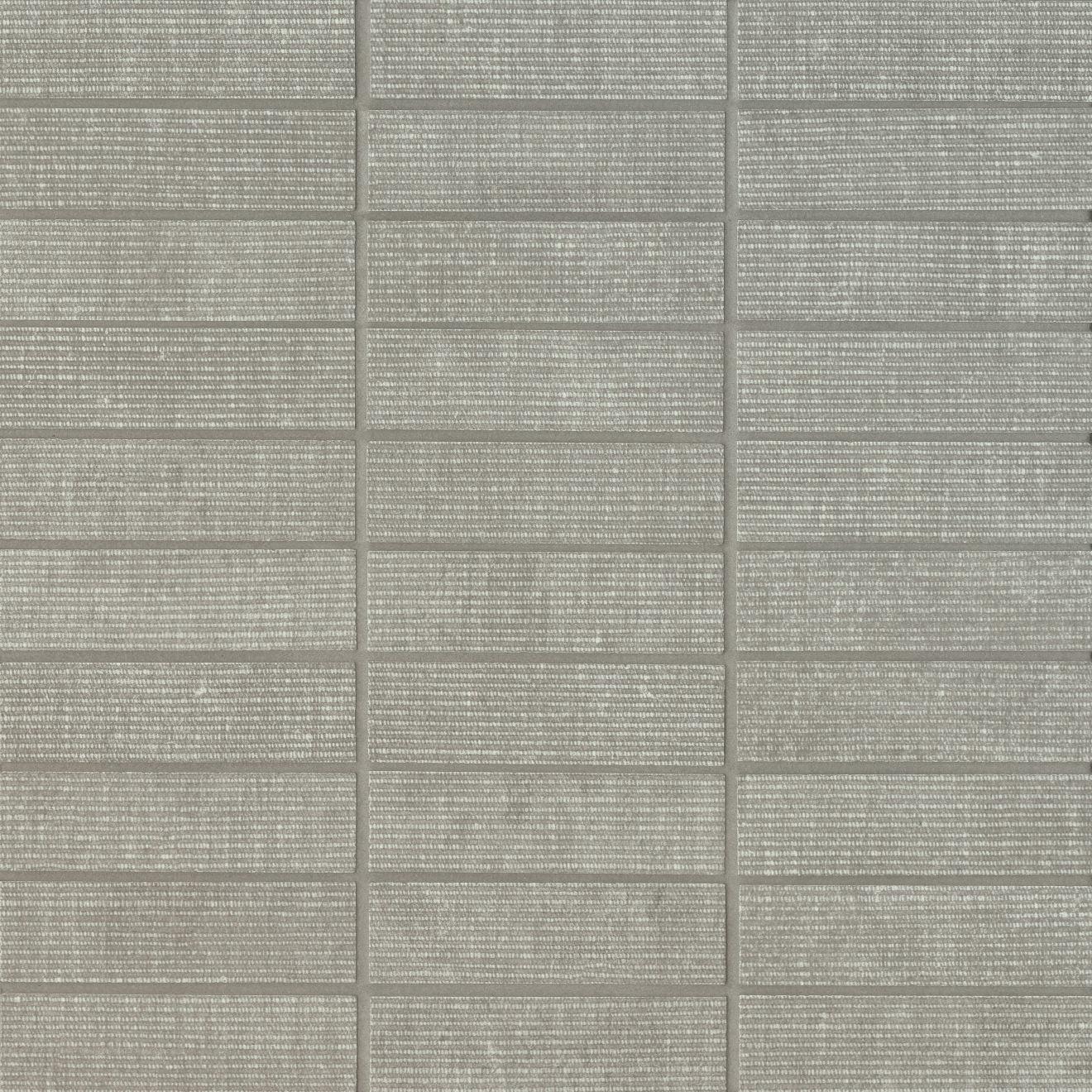 "Plaza 1""x4"" Matte Porcelain Mosaic Tile in Mist"