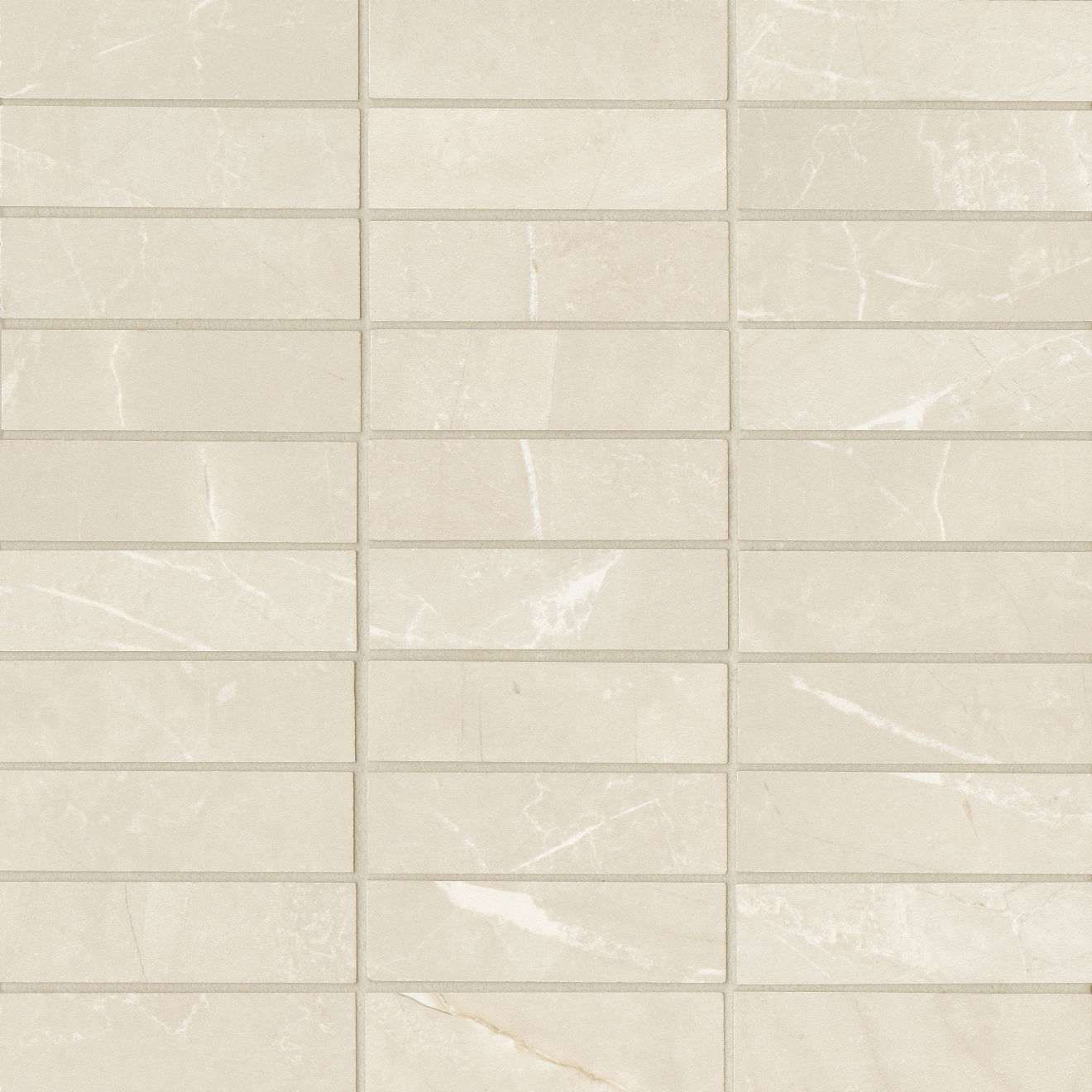 """Pulpis 1""""x4"""" Honed Porcelain Mosaic in Bianco"""