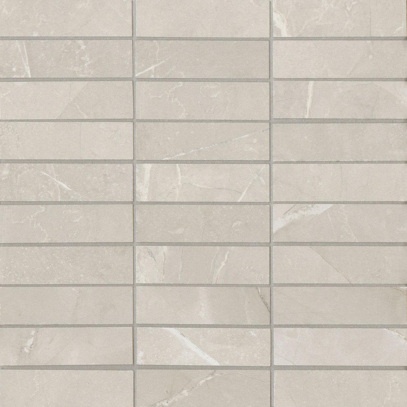 """Pulpis 1""""x4"""" Honed Porcelain Mosaic Tile in Grigio"""