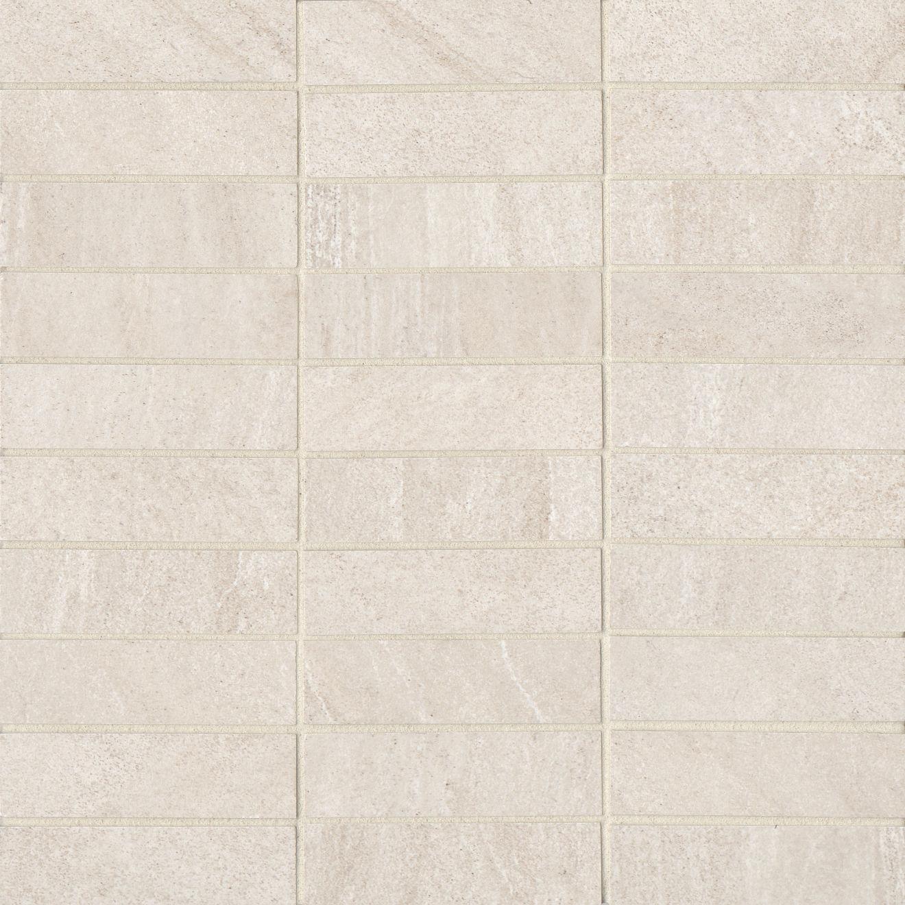 "Purestone 1""x4"" Matte Porcelain Mosaic Tile in Beige"