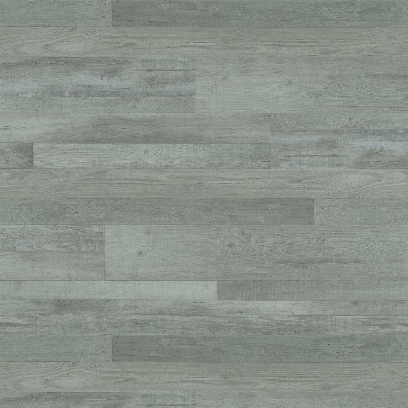 "Madera 7""x48"" Luxury SPC Vinyl Flooring in Grey Oak"