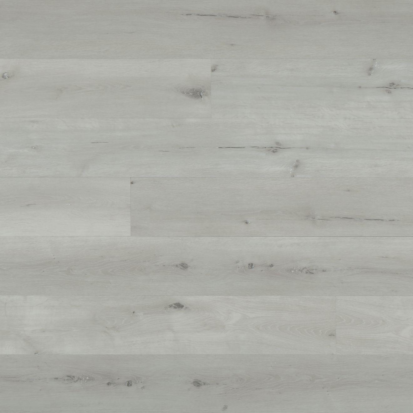 "Cassio 7""x48"" Luxury SPC Vinyl Flooring in White"