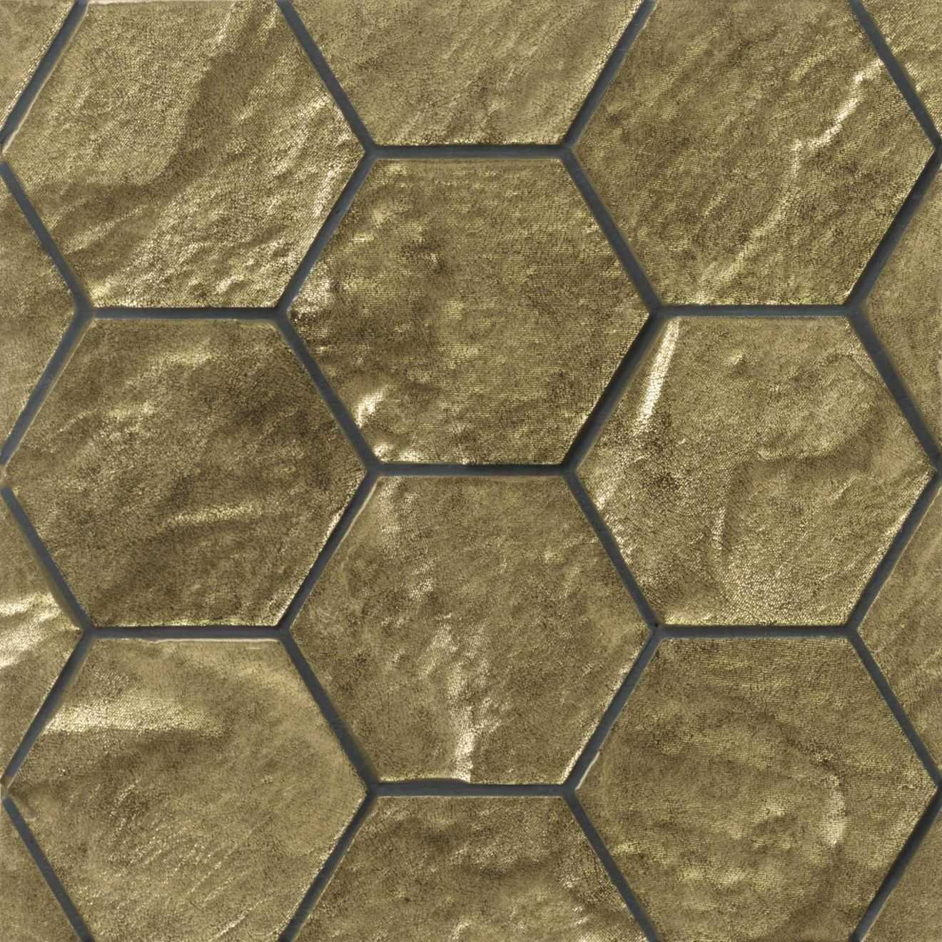 Elecdrix Wall Mosaic in Gold as Love