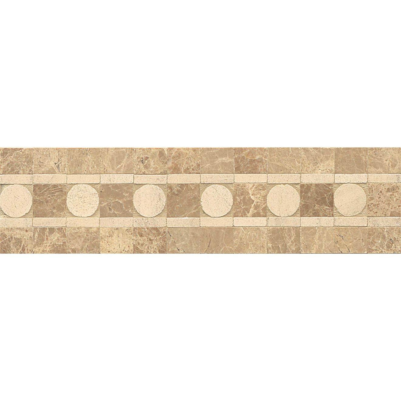3X12 Liner Sqre Peg-Moca/Viburnum