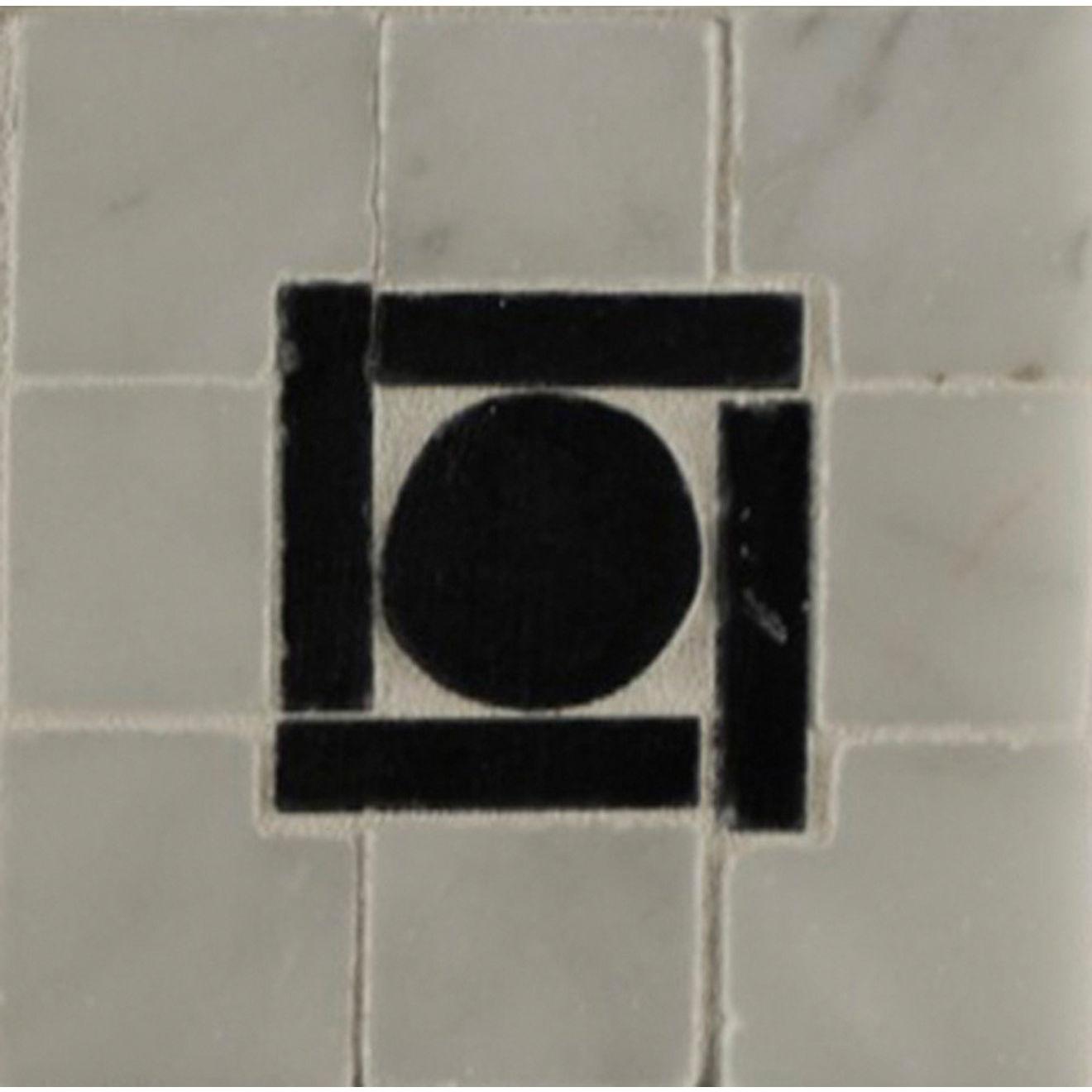 3X3 Square Peg Cnr Wh Carrera/Ebony