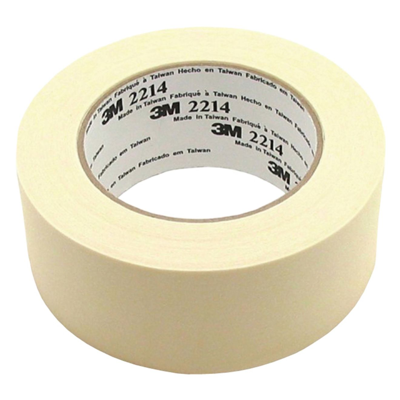 A Bottini 2 in. x 54.8 m. Utility Grade Masking Tape in White