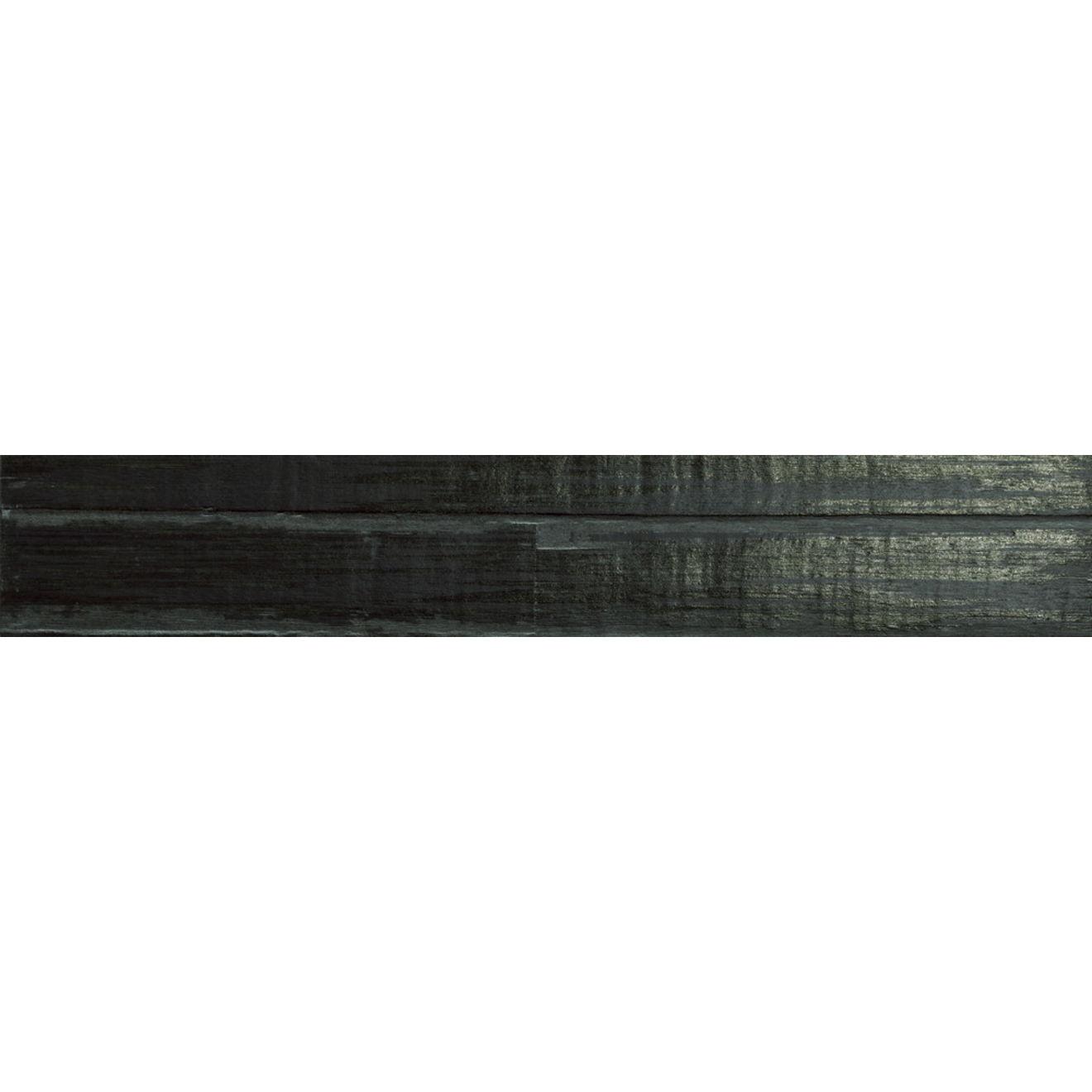 """Barrique 4"""" x 24"""" Floor & Wall Listello in Noir"""