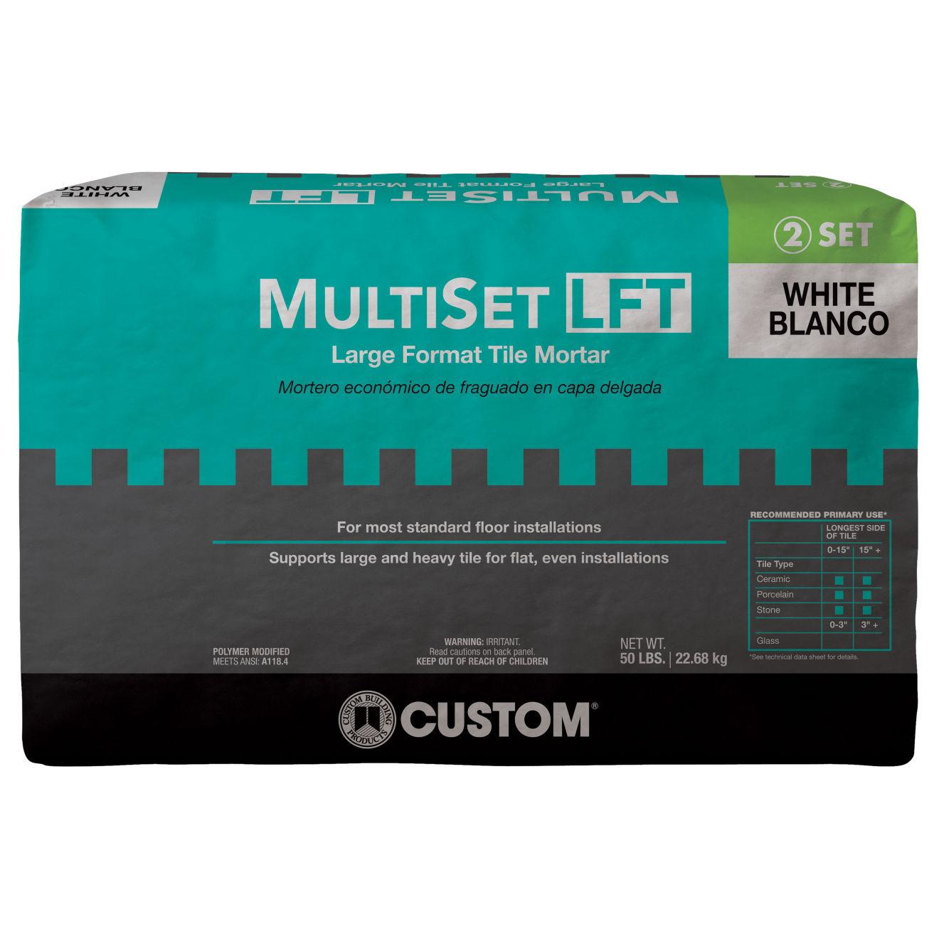 Custom Multi-Set LFT Thin-Set in White - 50 lb. Bag