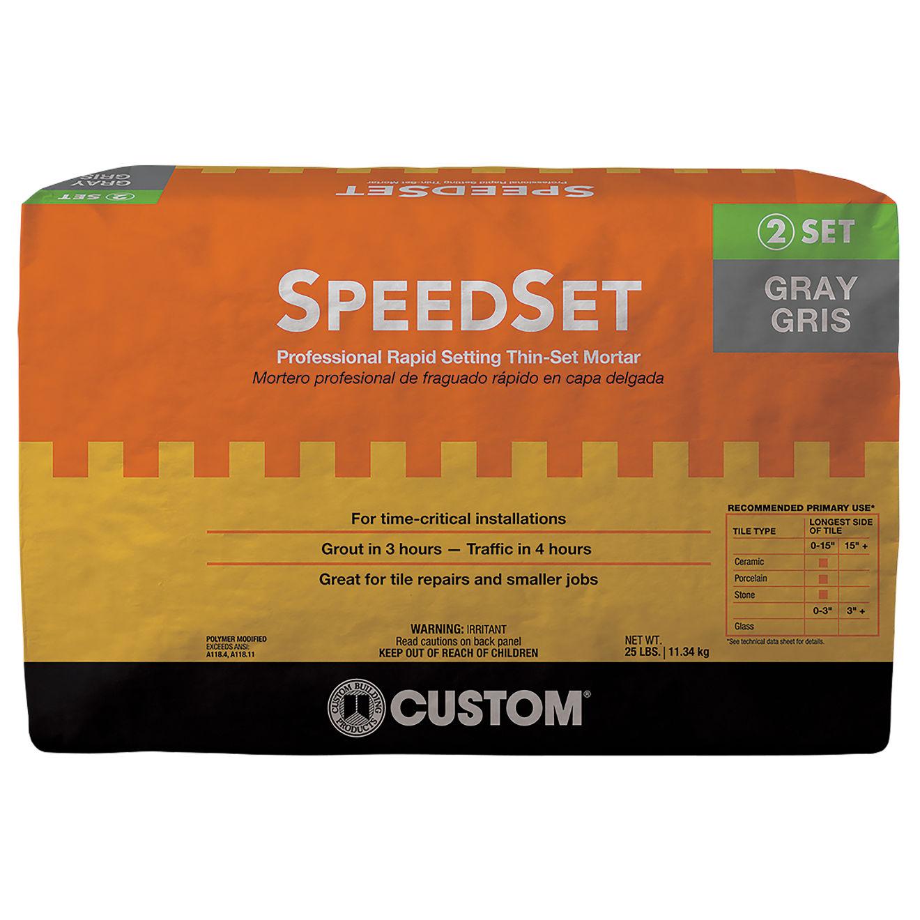Custom SpeedSet Thin-Set in Gray - 25 lb. Bag