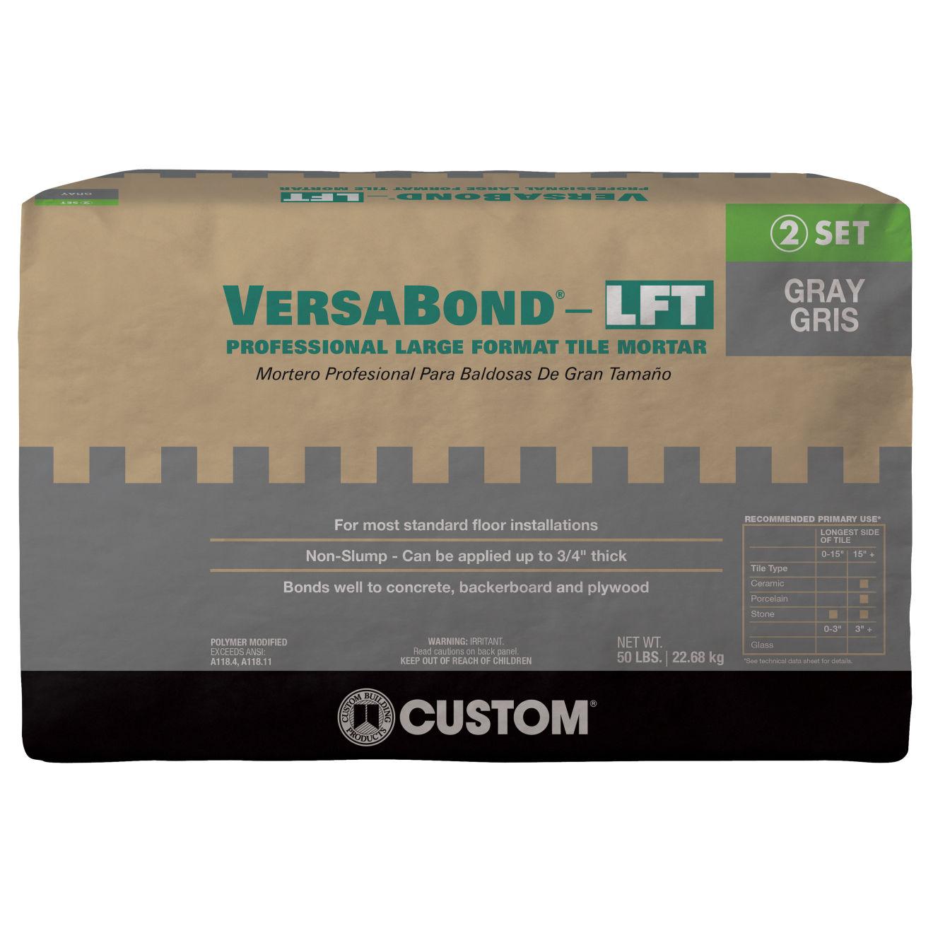 Custom Versabond LFT Thin-Set in Gray - 50lb. Bag