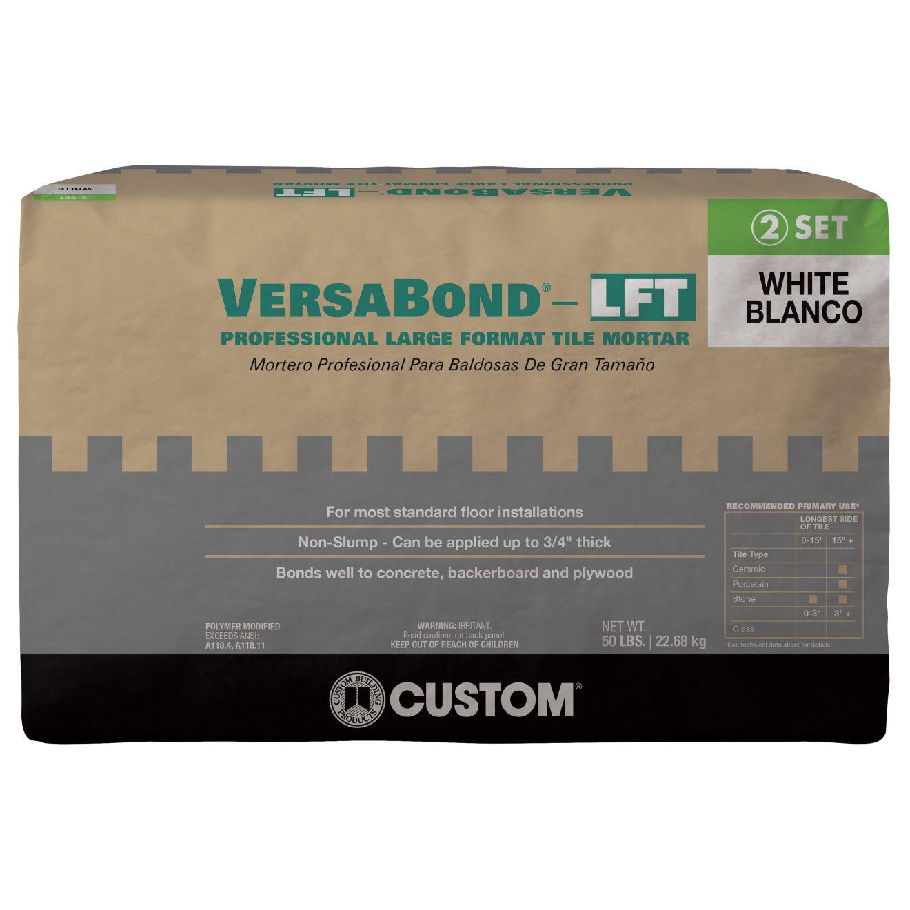 Custom Versabond LFT Thin-Set in White - 50lb. Bag