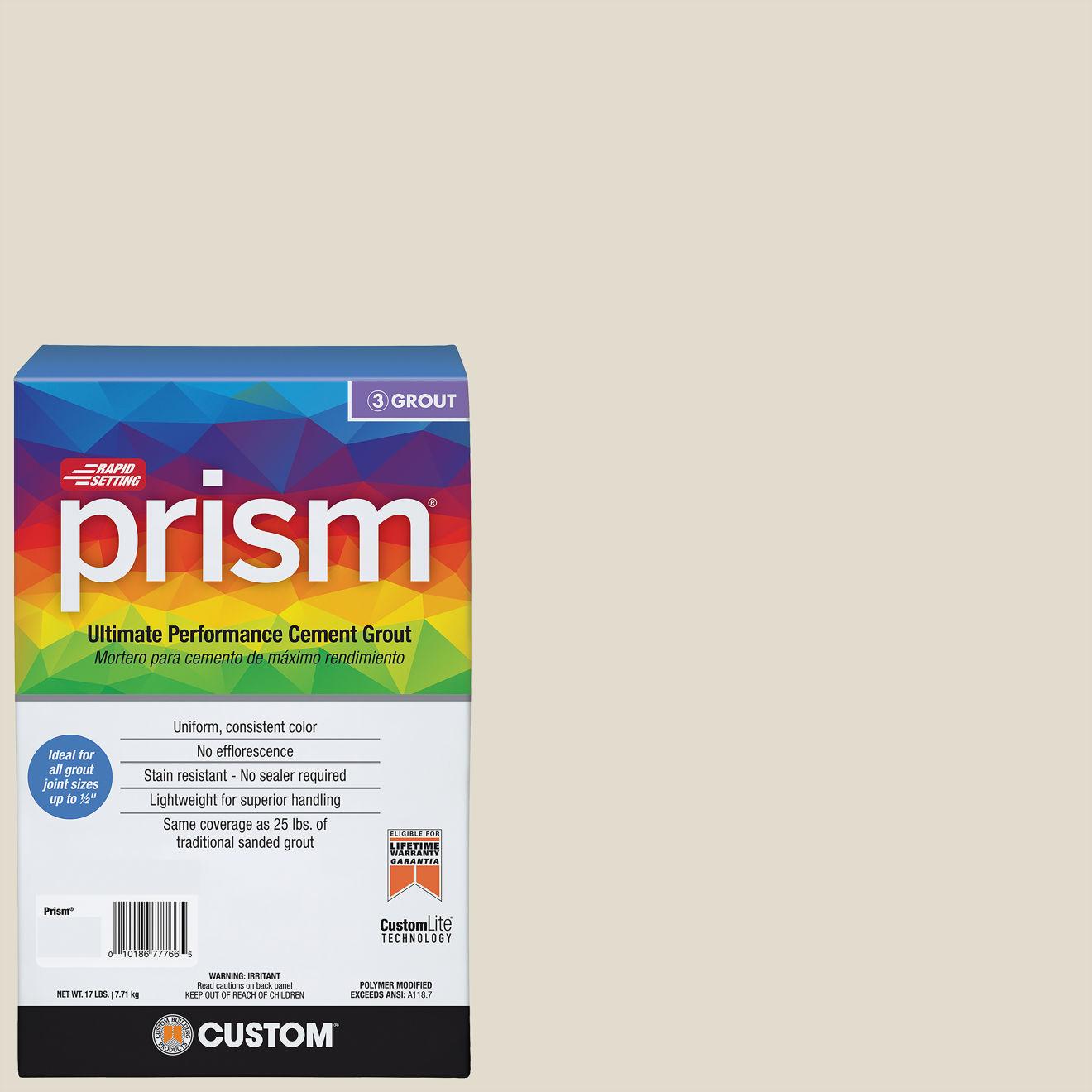 Custom Prism #011 Snow White 17lb. Sanded Grout