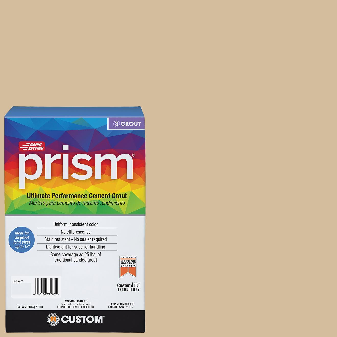Custom Prism #122 Linen 17lb. Sanded Grout