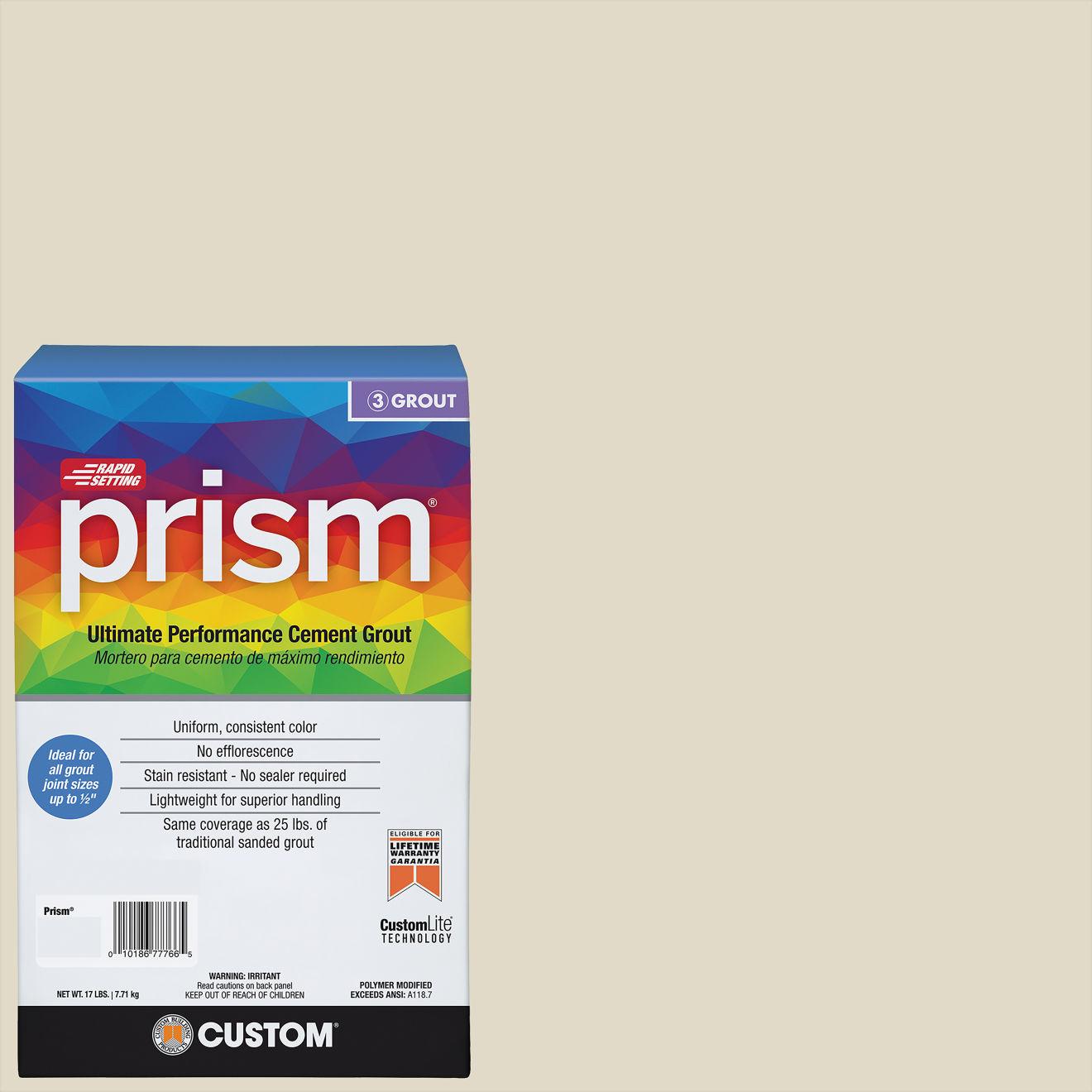 Custom Prism #333 Alabaster 17lb. Sanded Grout