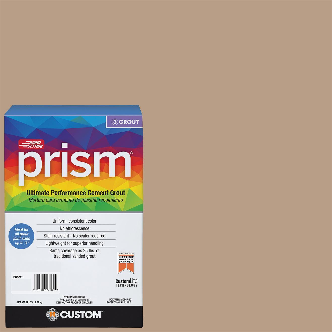 Custom Prism #380 Haystack 17lb. Sanded Grout