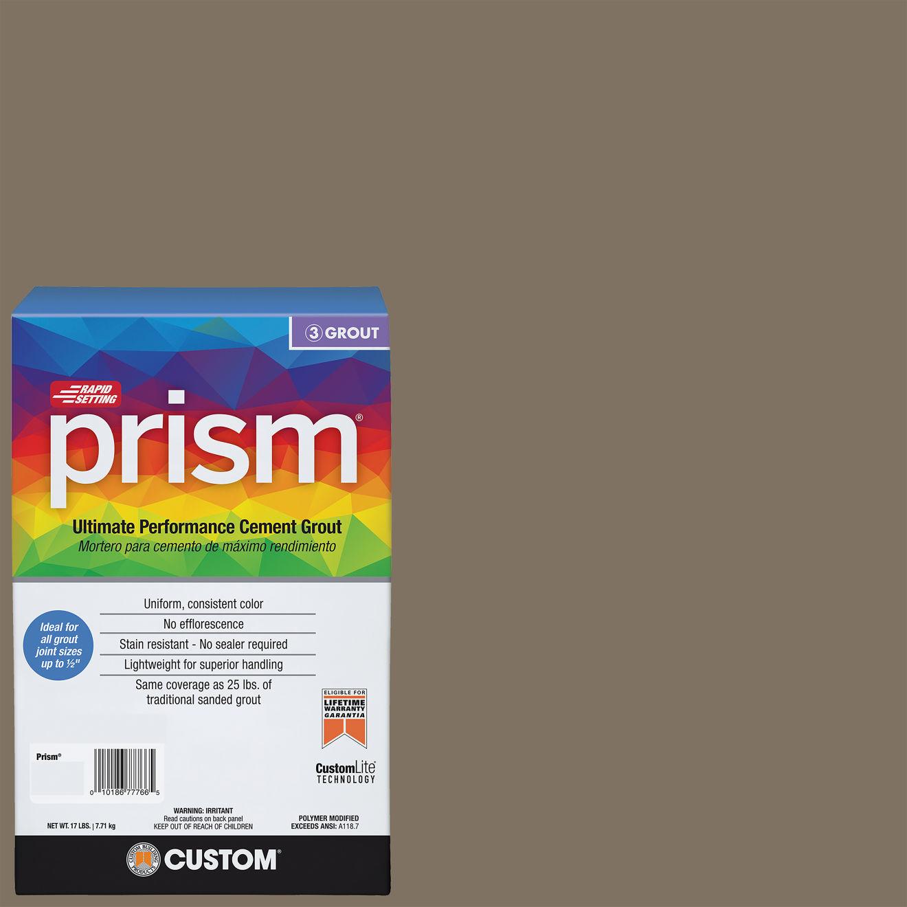 Custom Prism #544 Rolling Fog 17lb. Sanded Grout