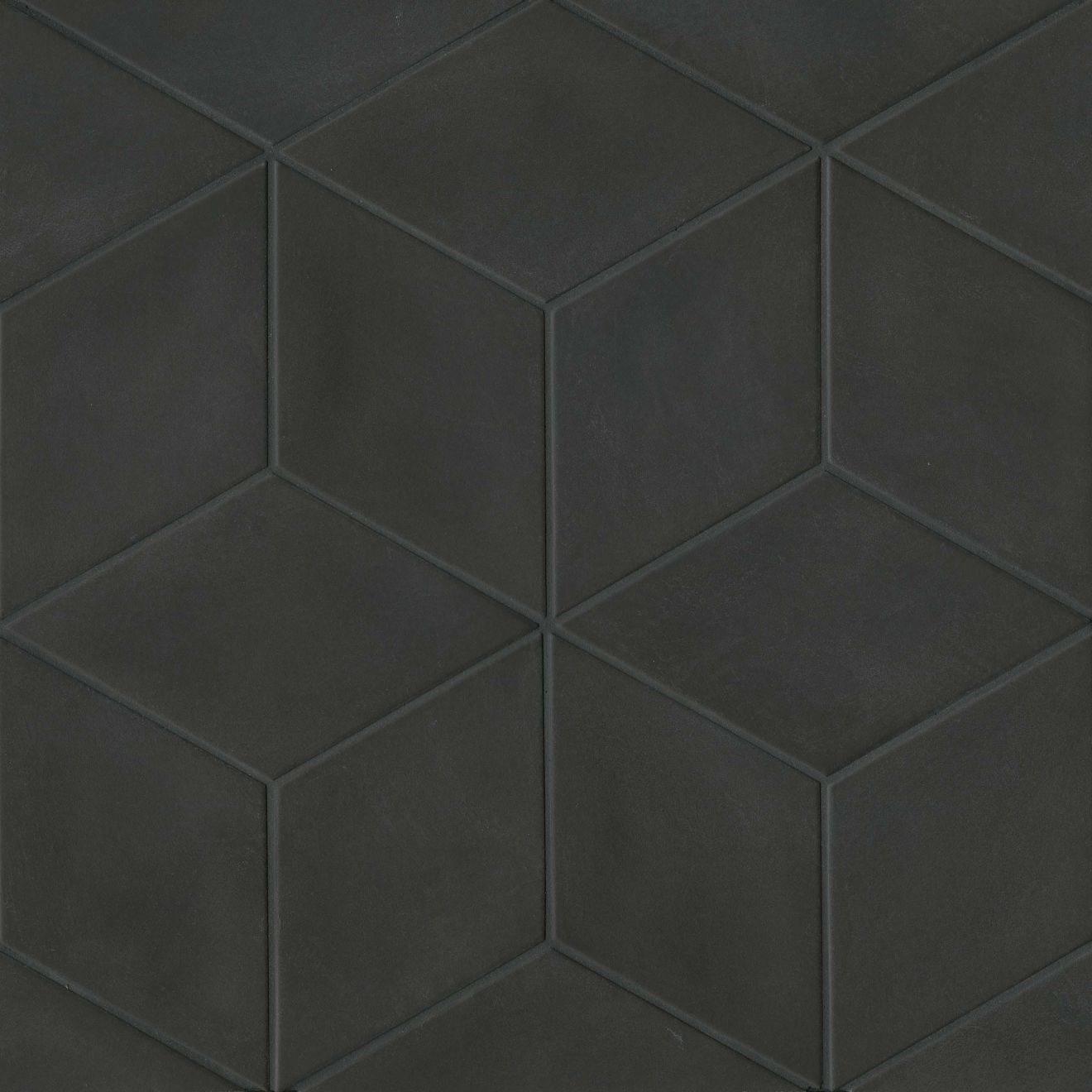"""Allora 7.5"""" x 12.75"""" Floor & Wall Tile in Solid Black"""
