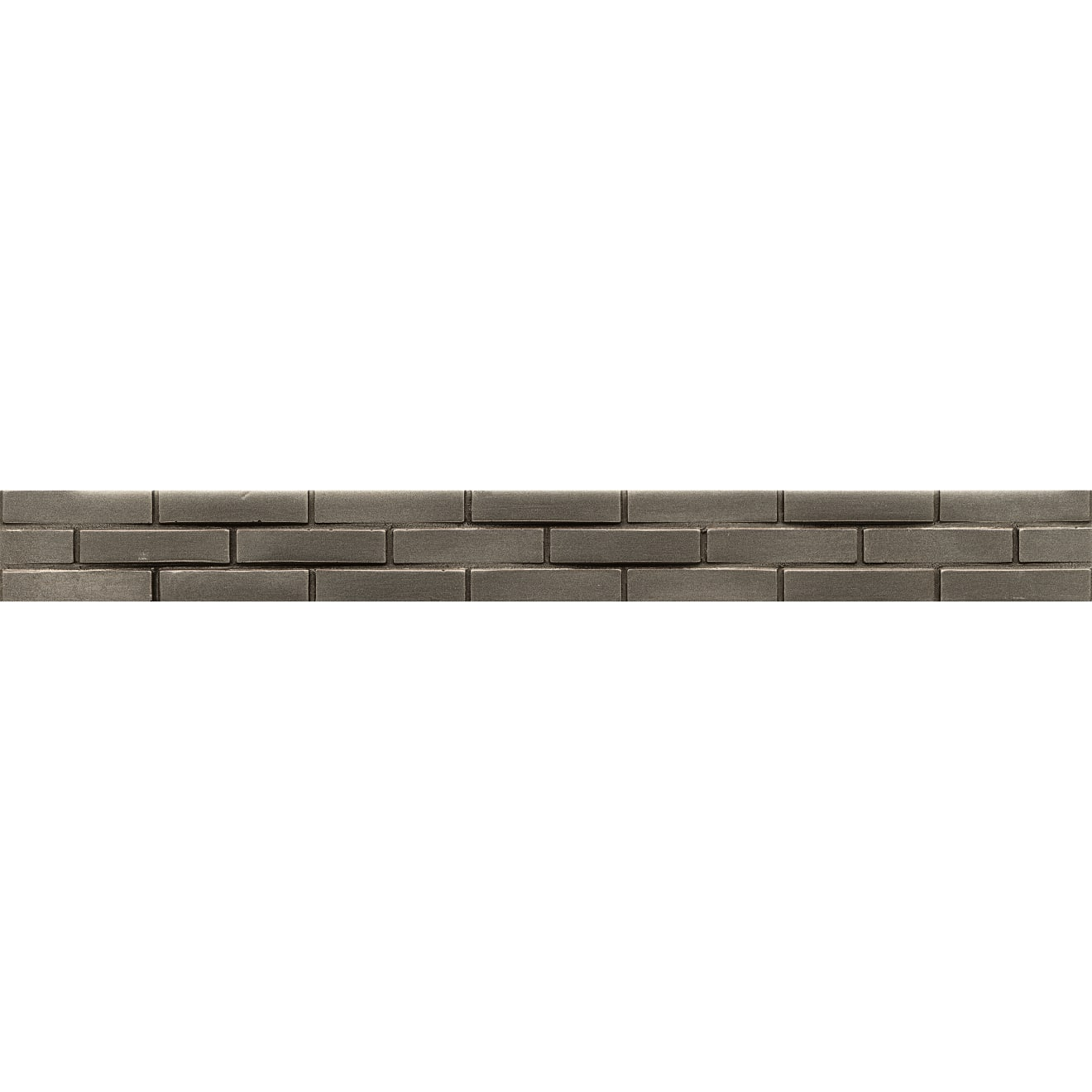 """Ambiance 1.25"""" x 12"""" Staggered Brick Liner in Brushed Nickel"""