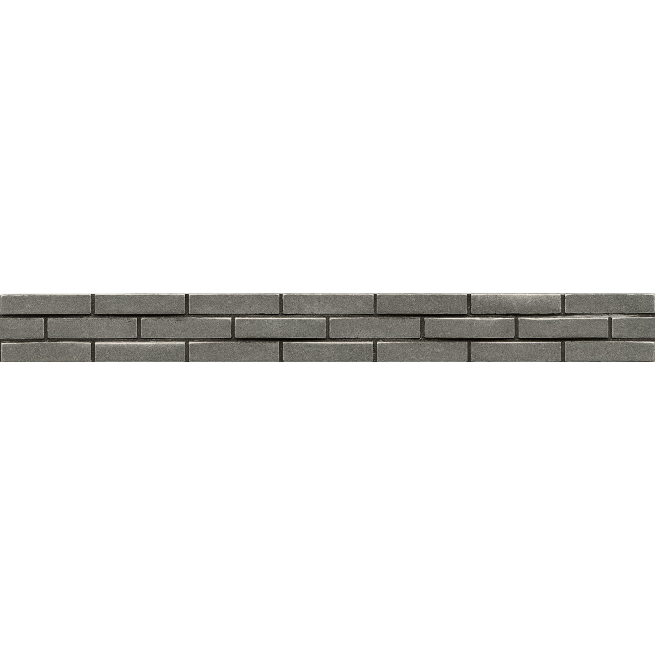 """Ambiance 1.25"""" x 12"""" Staggered Brick Liner in Pewter"""