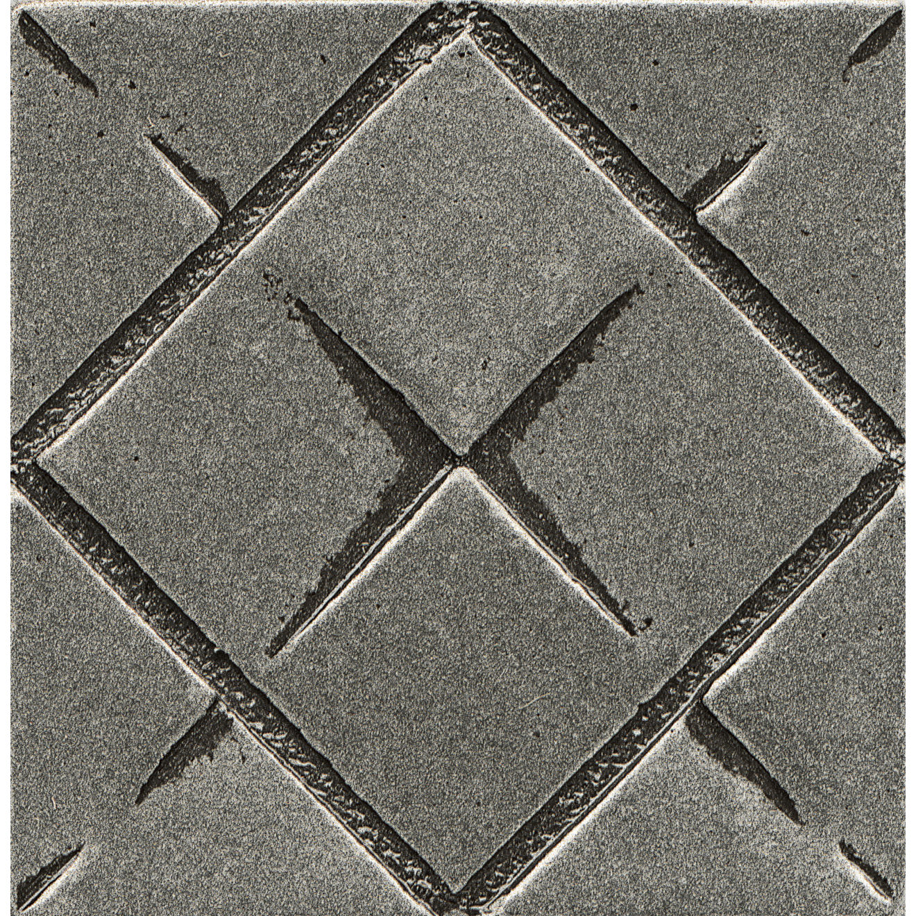 """Ambiance 2"""" x 2"""" Matrix City Metal Resin Insert in Pewter"""