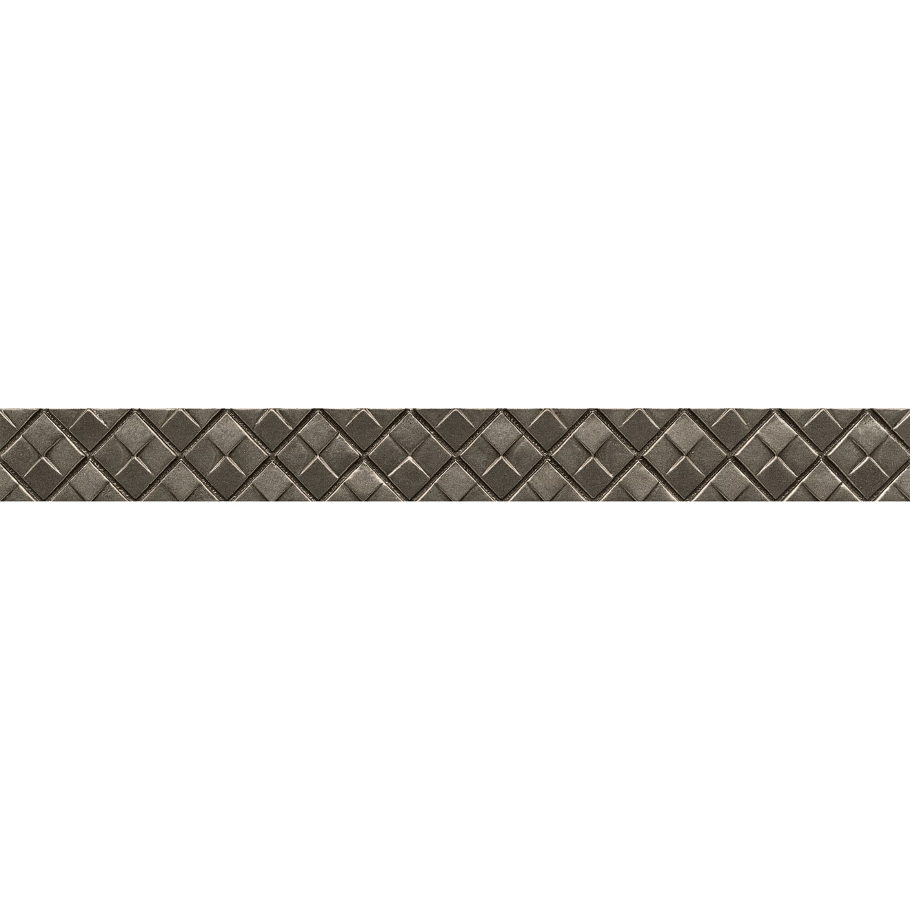 """Ambiance 1.25"""" x 12"""" Matrix City Liner in Brushed Nickel"""