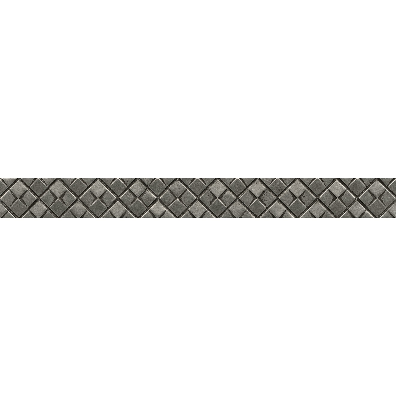 """Ambiance 1.25"""" x 12"""" Matrix City Liner in Pewter"""