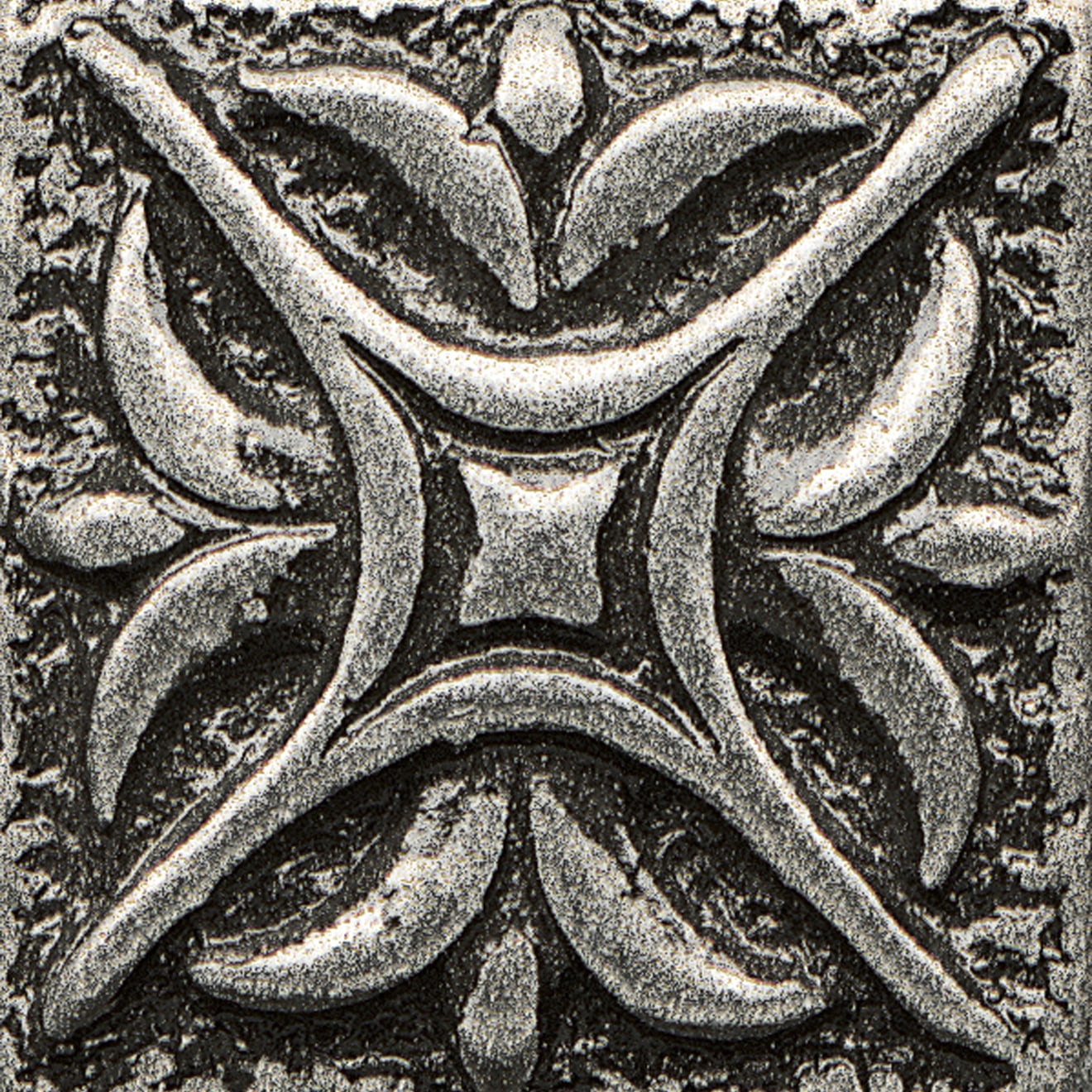 """Ambiance 1"""" x 1"""" Rising Star Metal Resin Insert in Pewter"""