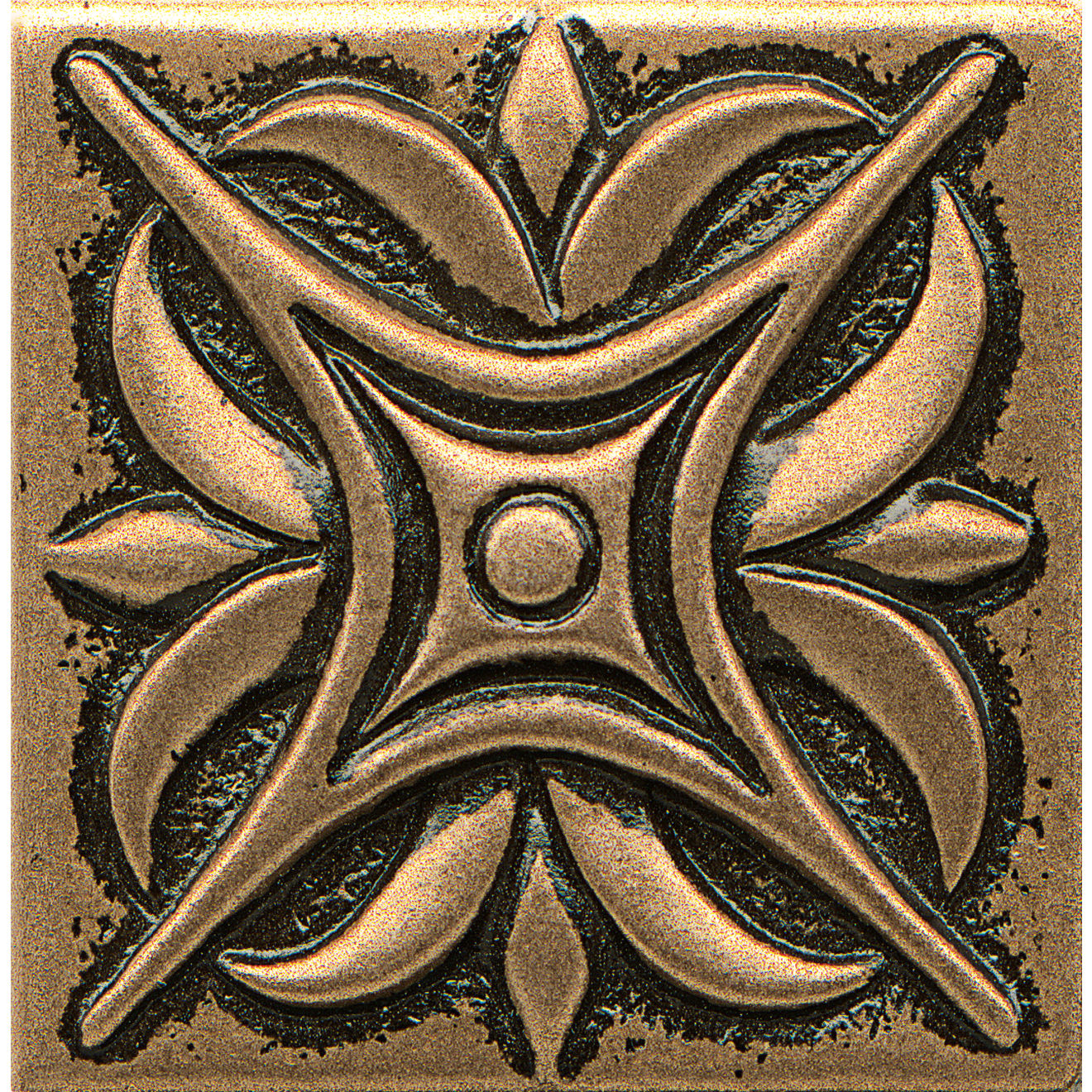 """Ambiance 2"""" x 2"""" Rising Star Metal Resin Insert in Bronze"""
