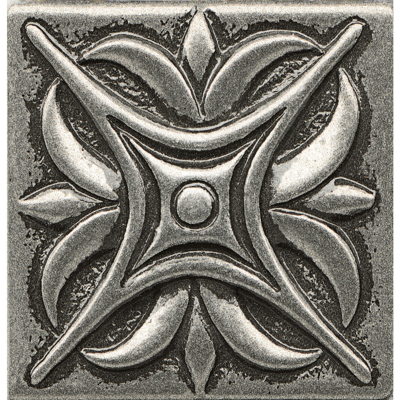 """Ambiance 2"""" x 2"""" Rising Star Metal Resin Insert in Pewter"""