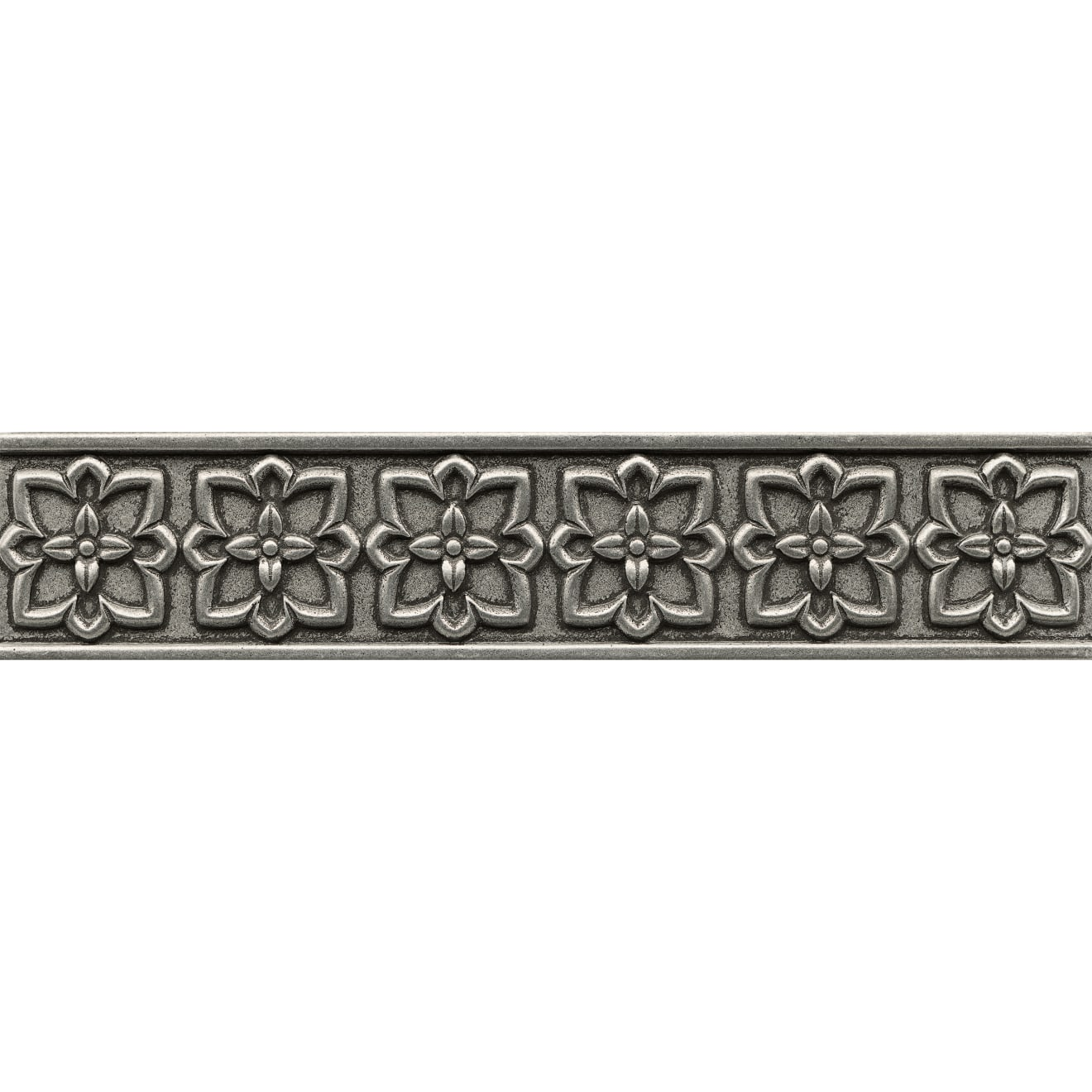 """Ambiance 2.5"""" x 12"""" Romanesque Liner in Pewter"""