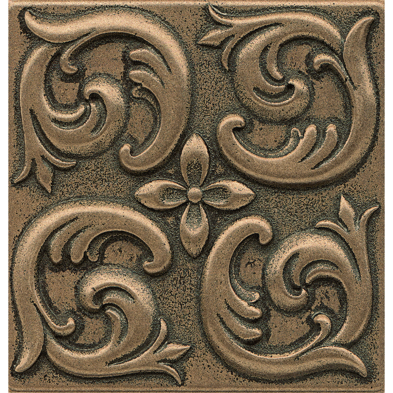 """Ambiance 4"""" x 4"""" Wave Metal Resin Insert in Bronze"""