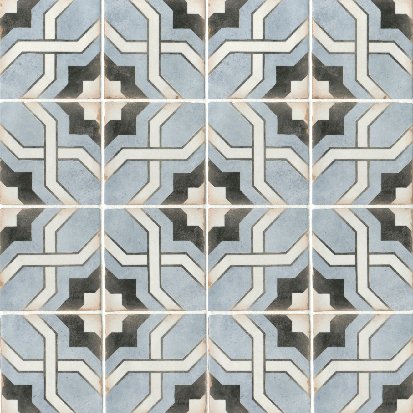 "Casablanca 5"" x 5"" Matte Ceramic Floor and Wall Tile in Attia"
