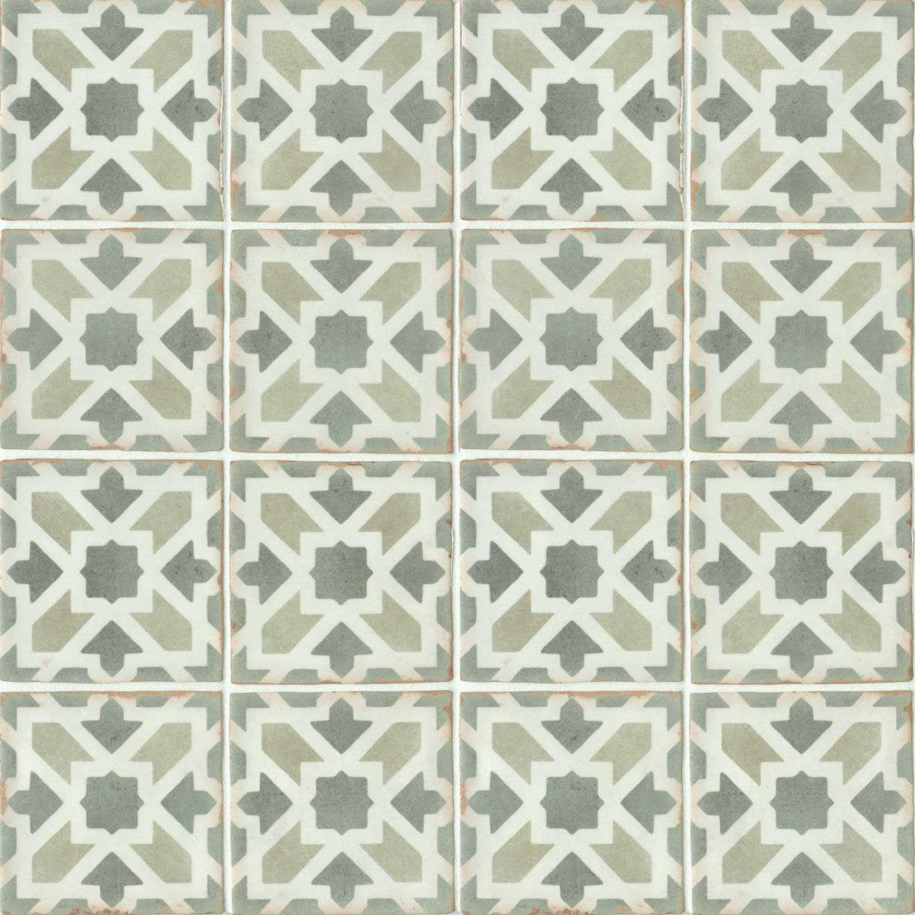 "Casablanca 5"" x 5"" Matte Ceramic Floor and Wall Tile in Malik"