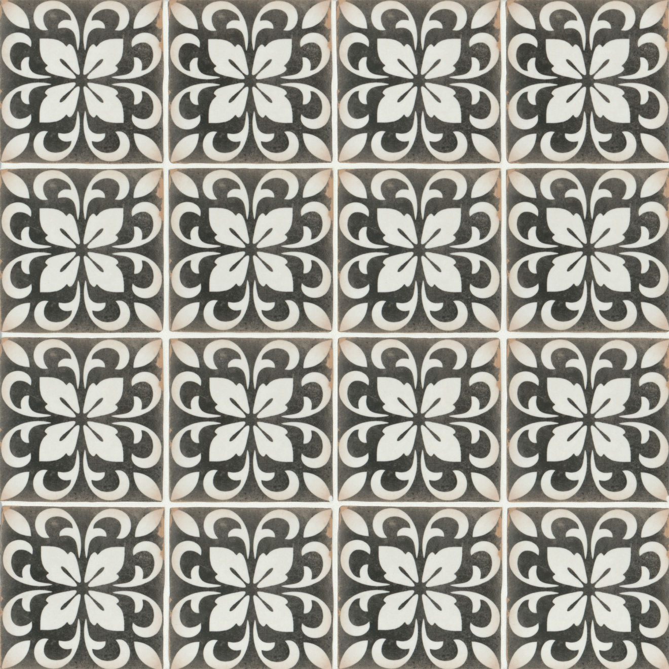 "Casablanca 5"" x 5"" Matte Ceramic Floor and Wall Tile in Rialto"