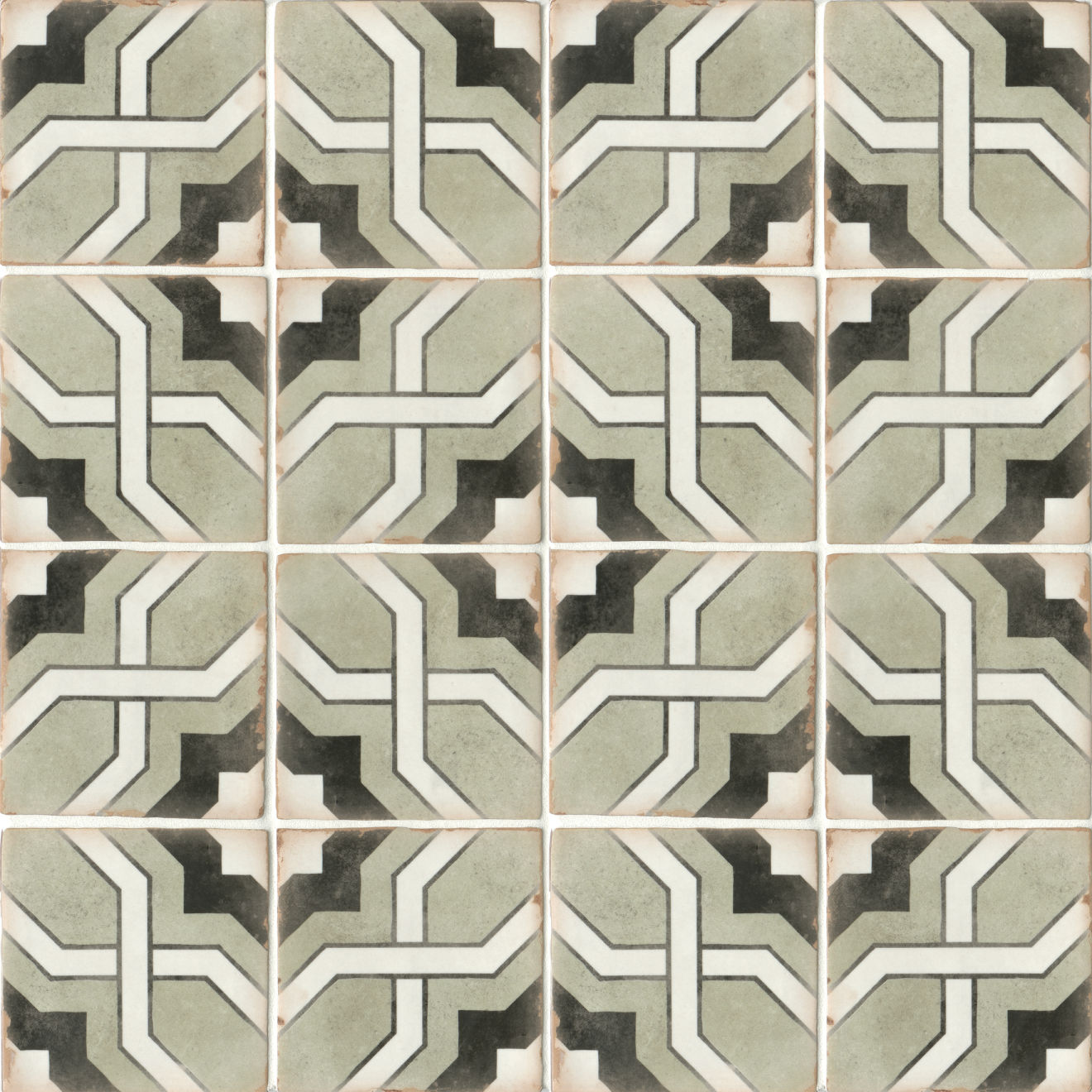 "Casablanca 5"" x 5"" Matte Ceramic Floor and Wall Tile in Torres"