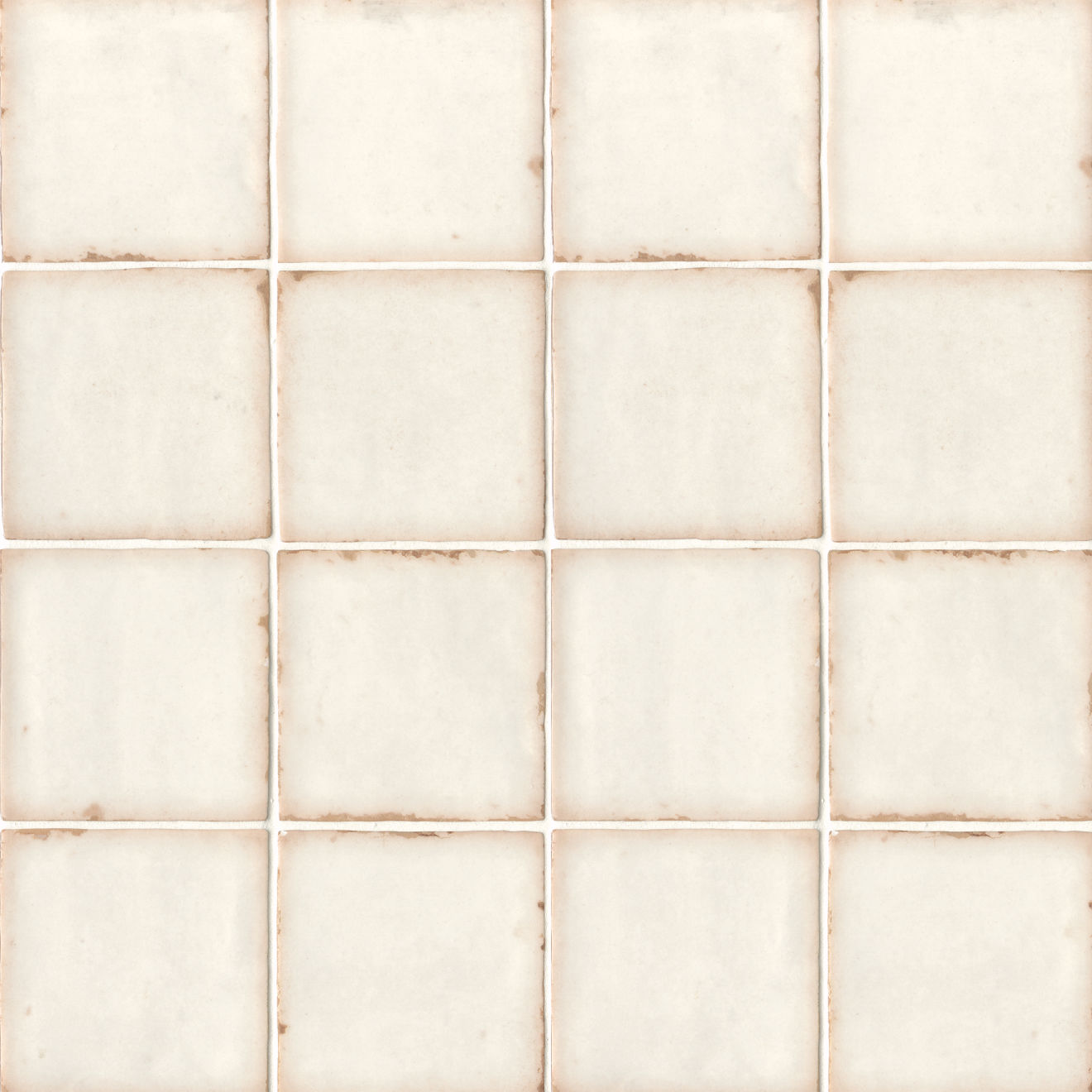 "Casablanca 5"" x 5"" Matte Ceramic Floor and Wall Tile in White"
