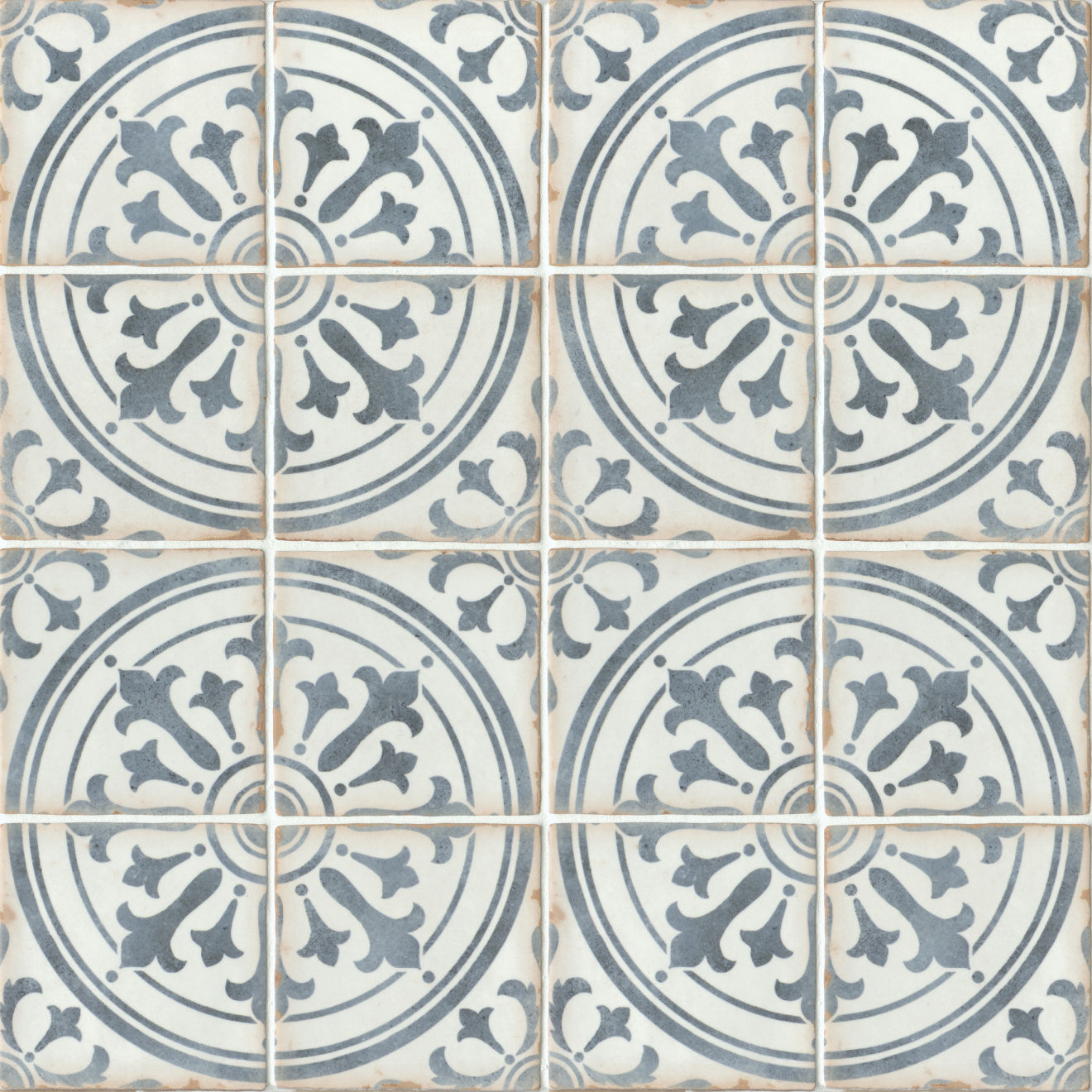 "Casablanca 5"" x 5"" Matte Ceramic Floor and Wall Tile in Ziane"