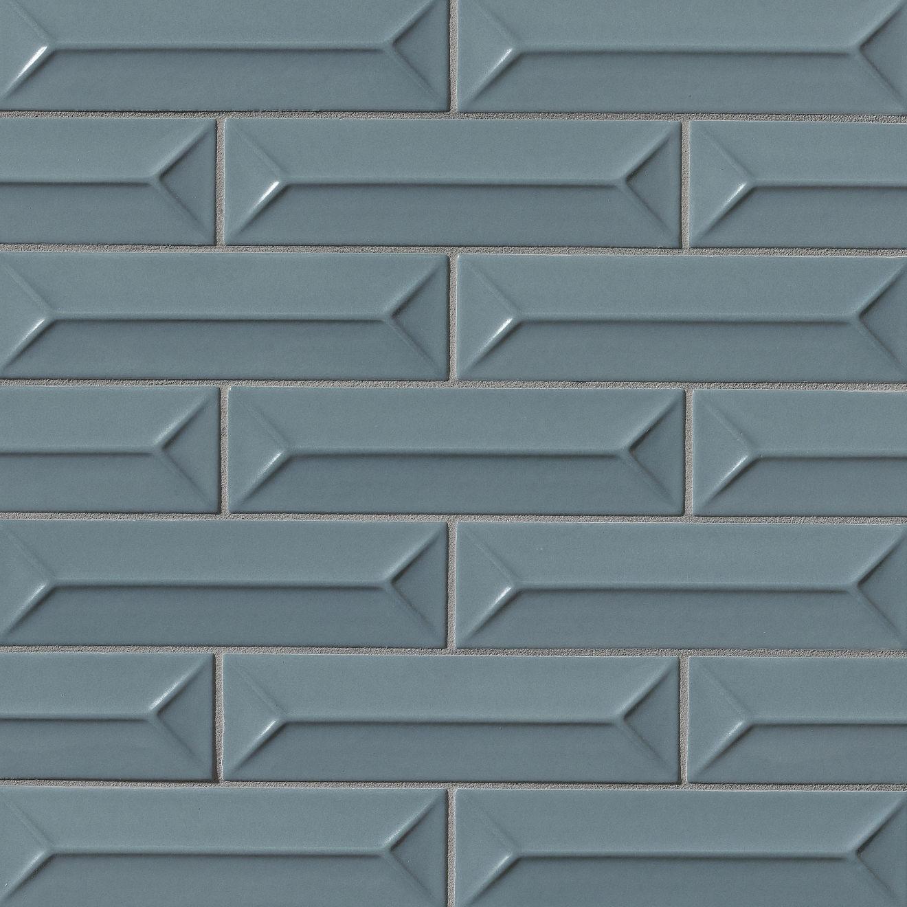 "Costa Allegra 2.5"" x 9"" Decorative Tile in Adriatic"