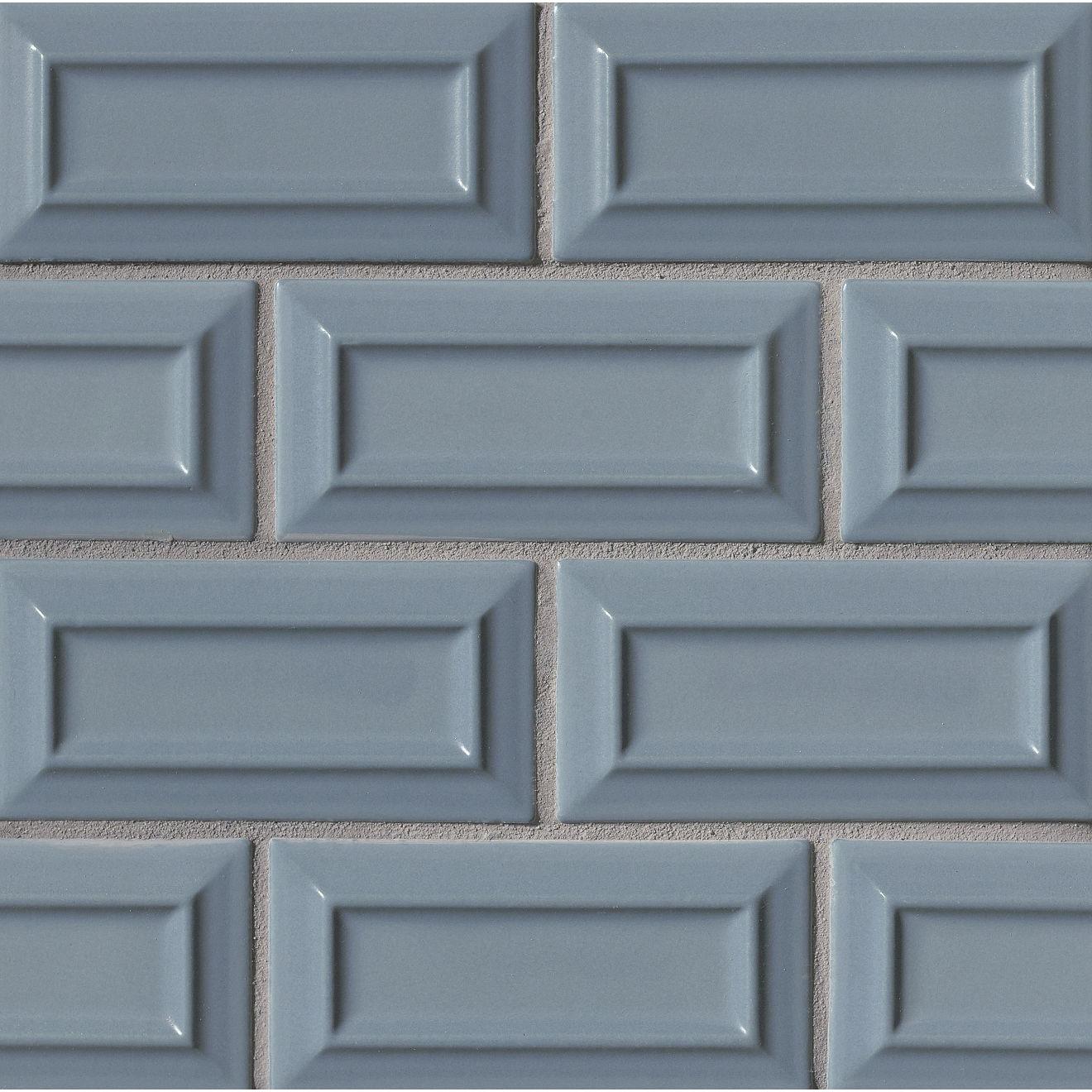 "Costa Allegra 3"" x 6"" Decorative Tile in Adriatic"