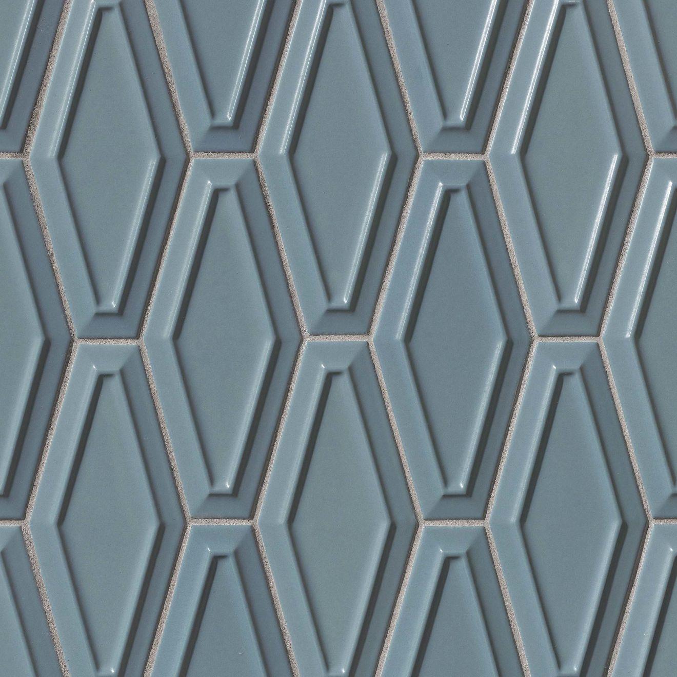 "Costa Allegra 4"" x 9"" Decorative Tile in Adriatic"