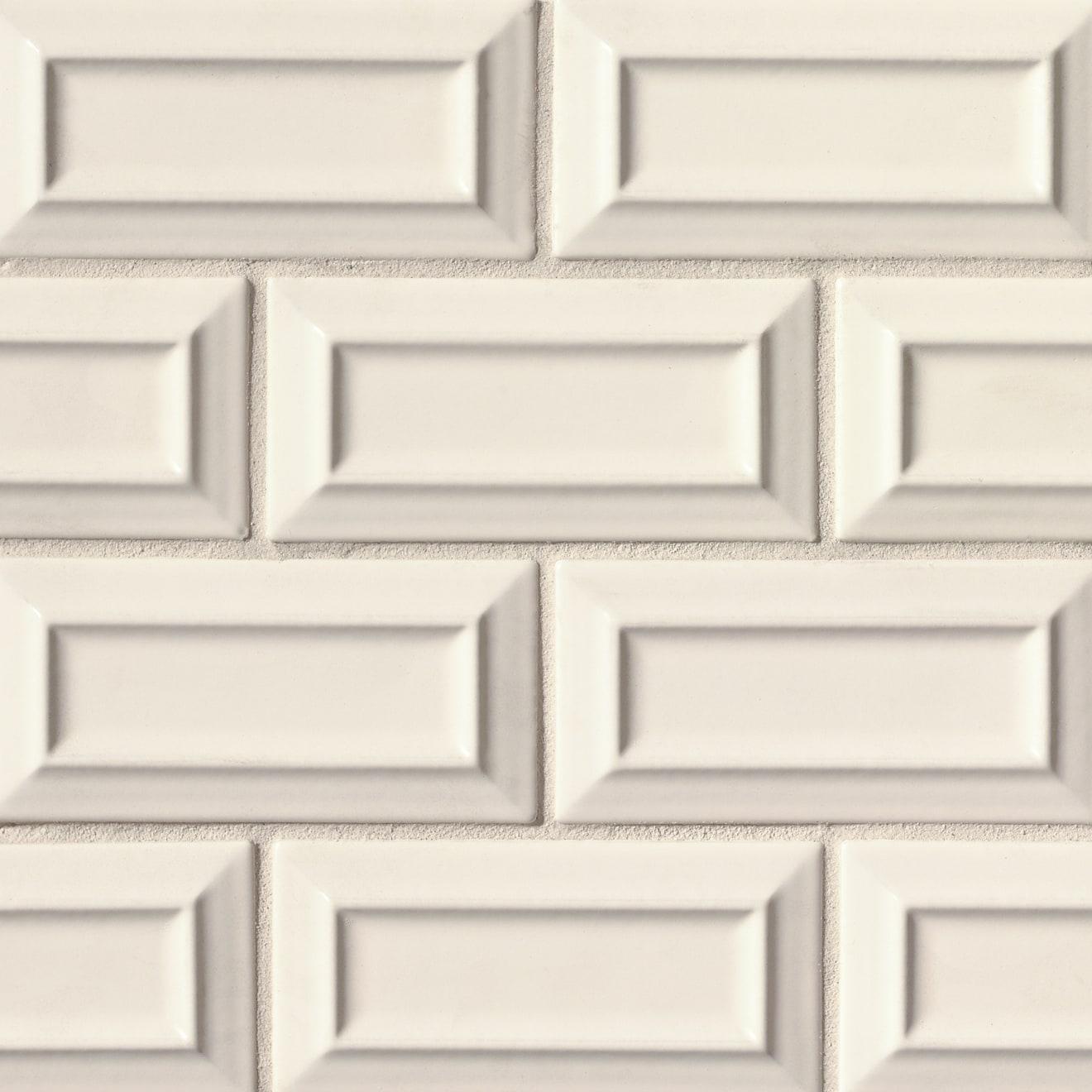 "Costa Allegra 3"" x 6"" Decorative Tile in Alabaster"